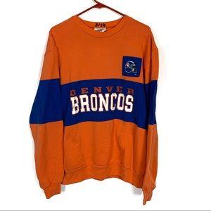 Vintage Denver Broncos Long Sleeve Sweater